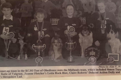 Simon Tappin KCJO Runner Up Obedience Team 1995, Our Dogs magazine