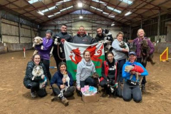 Claire and Honey with Team Wales for WAO